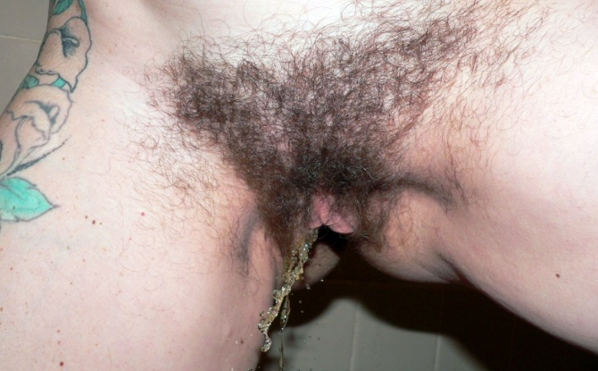 Hairy Women Caught Pissing